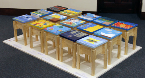 """""""Art comes from within"""": PLC students paint SEATs for East Timor."""